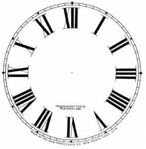 "BEDCO-12 - 4-1/2"" New Haven Roman Dial-White"