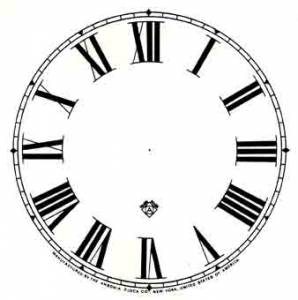 "BEDCO-12 - 4-7/8"" Ansonia Roman Paper Dial-White - Image 1"