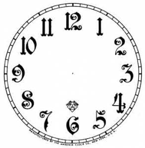 "BEDCO-12 - 5"" Ansonia Arabic Paper Dial-White"