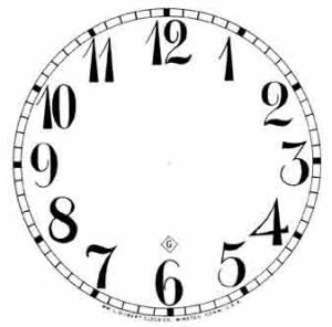 "BEDCO-12 - 4-7/8"" Gilbert Arabic White Dial - Image 1"