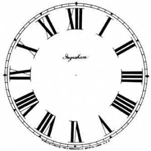 """BEDCO-12 - 4-7/8"""" Ingraham Roman White Dial - Image 1"""