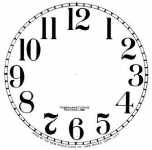 """SHIPLEY-12 - 5"""" New Haven Arabic Dial-Ivory - Image 1"""