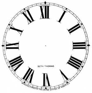 "SHIPLEY-12 - 11"" Seth Thomas Roman Dial-Ivory - Image 1"