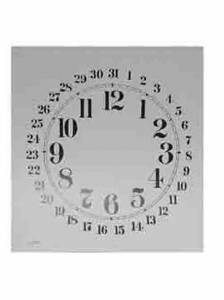 "BEDCO-12 - 11"" Welch Calendar Whitepaper Dial"