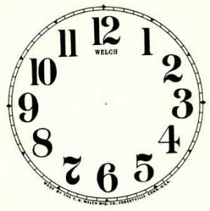 """SHIPLEY-12 - 5"""" Welch Arabic Dial-Ivory - Image 1"""