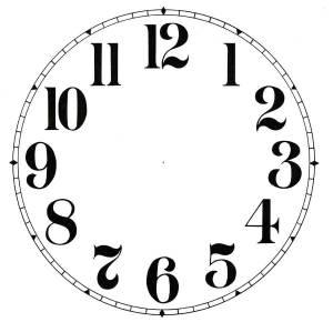"SHIPLEY-12 - 6-1/2"" Arabic Plain Ivory Dial - Image 1"