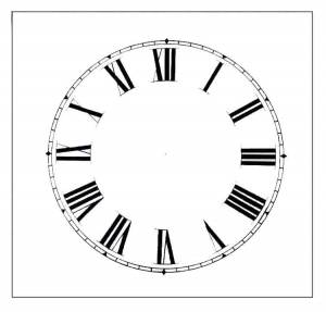 """BEDCO-12 - 6-1/2"""" Roman Plain White Dial"""