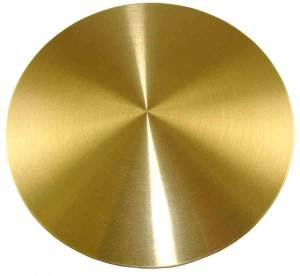 """German Style Bob -4-1/2"""" (115mm) Brushed Brass With 3/4"""" Slot - Image 1"""