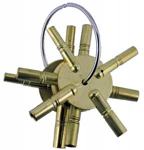 TT-19 - Brass 4-Prong 3-Piece Key Assortment American Sizes - Image 1