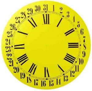 """BEDCO-12 - 11"""" Ingraham Calendar Dial-White"""