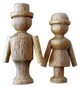 """SCHWAB-14 - 1-3/8"""" Tall Cuckoo Clock Dancing Couple - Image 1"""