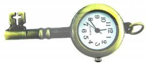 Pendant Watch - Antique Gold Key