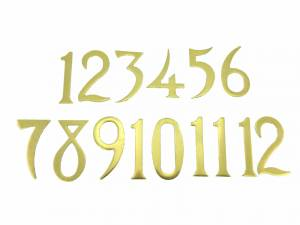 33mm Brass Plated Aluminum Arabic Number Set