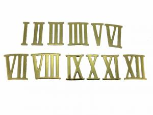 27mm Brass Plated Aluminum Roman Numeral Set