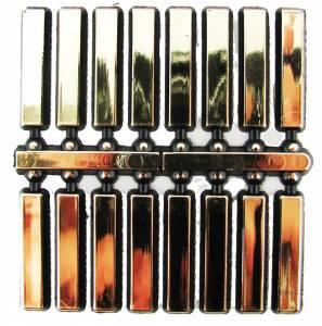 "VO-12 - 5/8"" Gold Plastic Bars - Image 1"