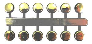 "VO-12 - 3/8"" Gold Plastic Dots - Image 1"
