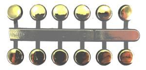 "VO-12 - 1/4"" Gold Plastic Dots - Image 1"