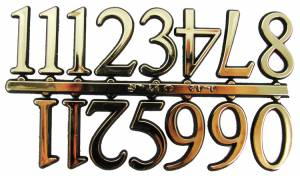"VO-12 - 3/4"" Gold Plastic Arabic Numerals - Image 1"