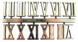 "VO-12 - 1"" Gold Plastic Roman Numerals"