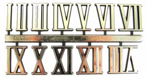 "VO-12 - 3/8"" Gold Plastic Roman Numerals - Image 1"