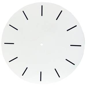 "Hour Marker Dial  13-3/4"" Diameter With 12-1/2"" Time Track"