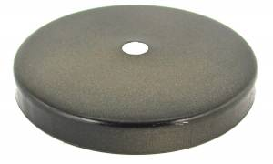 Dark Bronze Finished Aluminum End Cap Fits 57mm Weight Shell - Image 1