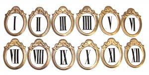 Fancy 45mm Roman Numeral Set