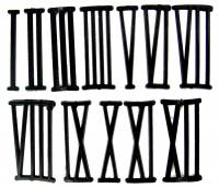 "Numeral Sets, Minute  & Hour Markers, Bar & Dot Sets - Roman Numeral Sets - 42mm  (1-5/8"") Black Plastic Roman Numeral Set"