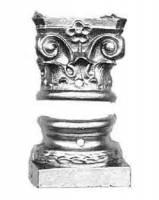 "Case Parts - Columns & Column Holders - TT-11 - 3/4"" Mantel Clock Base Set"