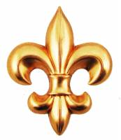 Case Parts - Decorative Appliques - Decorative Brass Fleur De Lys