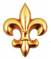 Case Parts - Decorative Appliques - Decorative Brass Fleur De Lys