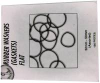 Watch & Jewelry Parts & Tools - Parts - Large Flat O'Ring Assortment - 100 Pieces   32-50mm