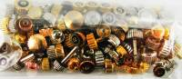 Parts - Bows, Buckles, Bushings, Clamps, Crowns, O'Rings, Mvmt. Rings, Pipes, Screws, Spring Bars, Stems - 100-Piece Watch Crown Assortment