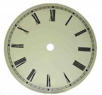 "Metal Dials - Round Aluminum & Heavy Metal Backed Dials - 4-1/2"" Aluminum Ivory Roman Dial"