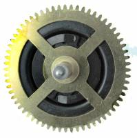 Wheels & Wheel Blanks, Motion Works, Fans & Relate - Cuckoo Ratchet Wheels & Components - Regula #34 Music Ratchet Wheel With Milled Chain Guard (CCW)