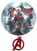 Clocks, Watches, Timers, Weather Instruments - Clocks - Marvel Avengers Pendulum Clock