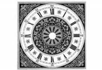 """Dials & Related - Metal Dials - VO-12 - 7-7/8"""" Square Roman Fancy Metal Dial"""