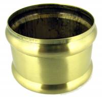 Brushed Brass Weight Shell Memory Ring