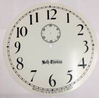 "Metal Dials - #2 Regulator & School Clock Dials - TT-12 - 12-3/8"" Silkscreened Steel Dial-Arabic"