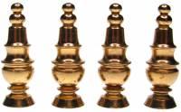 """Case Parts - Finials - Brass Finial 4-Piece Set 1-3/8"""" x 3/8"""""""