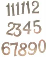 Dials & Related - Numeral Sets - Milled Brass Arabic Number Set-40mm