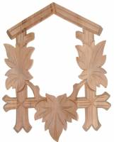 "Clock Repair & Replacement Parts - Cuckoo Clock Parts - Cuckoo Clock Front Frame  6-5/8"" W x 8-1/2"" T"