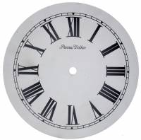 "Metal Dials - Round Aluminum & Heavy Metal Backed Dials - 8-3/8"" Phinney-Walker Dial"
