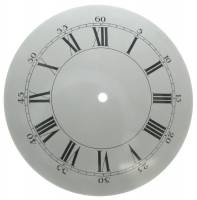 "Metal Dials - Round Aluminum & Heavy Metal Backed Dials - 9-13/16"" Domed Aluminum Dial"