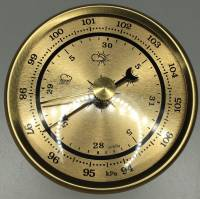 "Clocks, Watches, Timers, Weather Instruments - Weather Instruments & Parts - PRIMEX - 2-3/4"" Barometer"
