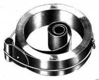 "Mainsprings, Arbors & Barrels - Loop End Mainsprings - .688"" X .014"" X 54"" Loop End Mainspring"
