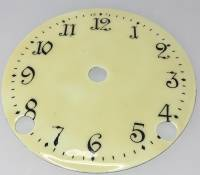 "Clearance Items - 4-1/8"" Yellow Porcelain Arabic Dial"