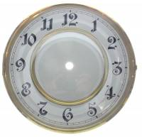 "Clock Repair & Replacement Parts - Dials & Related - 7-13/16"" Arabic Regulator Dial/Bezel/Glass Combination"