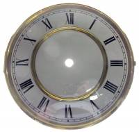 "Clock Repair & Replacement Parts - Dials & Related - 7-13/16"" Roman Regulator Dial/Bezel/Glass Combination"