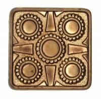 Case Parts - Decorative Appliques - Stamped Square Case Ornament